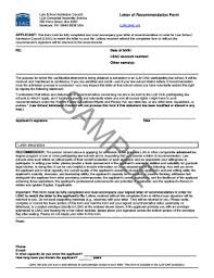 Applying To Law Schools Pre Letter Of Recommendation Form Lsac