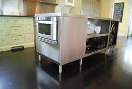 Image of: Victorian Stainless Steel Kitchen Island