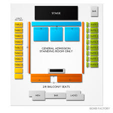 The Electric Factory Seating Chart The Bomb Factory Seating Chart