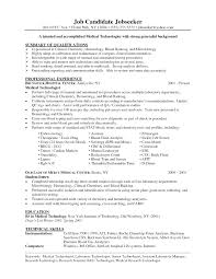 Radiographer Resume Templates Best Of Medical Technologist Resume