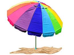 Image Outdoor Image Unavailable Amazoncom Amazoncom Party With Pride Giant 8 Rainbow Beach Umbrella With