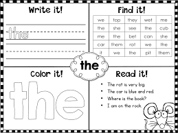 Fry Sight Words First 100 Printables Student Free High Frequency