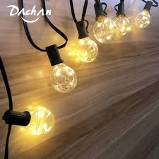 Us 31 39 50 Off Safety 3 7v 25ft Led G40 Globe String Lights With Clear Bulb Patio Lights Ip44 Vintage Bulbs Decorative Outdoor Garland Wedding In