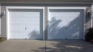 single garage doorTwo Single Garage Doors Before  A Plus Garage Doors