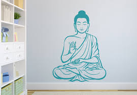 meditating buddha decal people characters