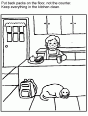 Small Picture Food Safety Coloring Pages Coloring Coloring Pages
