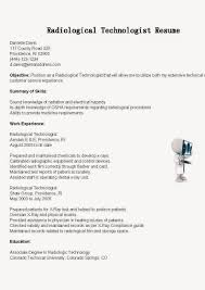Cover Letter Radiologic Technologist Resume Sample Radiologic