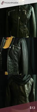 jou jou las moto jacket sz med moto jacket faux leather leather jou jou las moto jacket sz med black faux