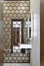 luxurious home decoration using small beveled mirror tiles designs terrific bathroom decoration