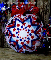 257 best Quilted Ornaments images on Pinterest | Quilted ornaments ... & Patriotic Stars 4th of July Quilted Ornament by MyPrairieCreations, Adamdwight.com