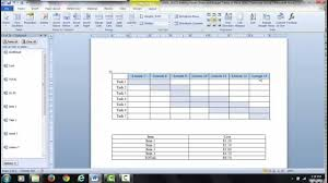 Gantt Charts And Tables In Word Video 1 Insert Plot Data