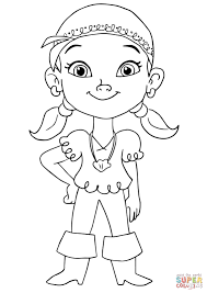 Small Picture Izzy Pirate coloring page Free Printable Coloring Pages