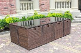 Salon De Jardin Encastrable En R Sine Tress E 8 Personnes Marron Salon De Jardin Encastrable En Resine Tressee