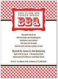 Barbeque Invitation Unique Red Plaid Bbq Party Invitations Barbeque Invitations 23901