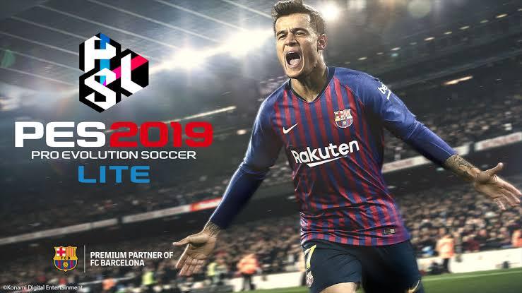 Game online terbaru Pro Evolution Soccer 2019 Lite