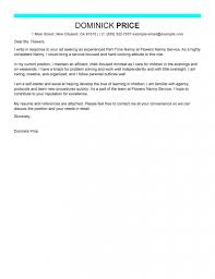 best part time nanny cover letter examples for jobs work open