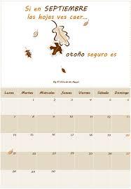 Imprimible Calendario Septiembre 2015 Niña Bonita