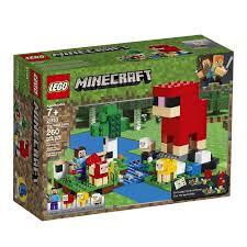 Đồ chơi LEGO MINECRAFT CHÍNH HÃNG - Nông Trại Len - SIKU 21153 - Lắp ráp -  xếp hình