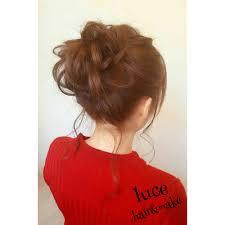 ふわふわルーズお団子スタイル Luceルーチェのヘアスタイル 美容院