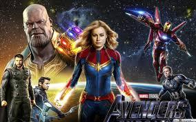 Avengers Endgame Captain Marvel Mit Helden Hd