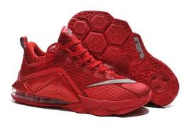 lebron red shoes. nike lebron james 12 low all red shoes