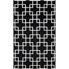 black and white geometric rug. surya modern geometric rug in black and white h