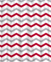red chevron shower curtain. good red and white chevron shower curtain j