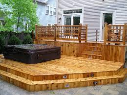 hot tub deck. Custom-deck-jacuzzi Hot Tub Deck
