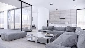 modern black white minimalist furniture interior. Unique White Grey Interior Design In The Modern Minimalist Style Ideas Of Furniture Black S