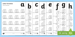 Each sheet provides activities for letter sound learning, letter formation, blending and segmenting. Free A Z Letter Formation Sheets Primary Resources