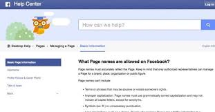 facebook guidelines for page names facebook guidelines