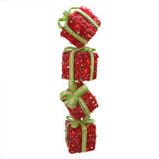 Lighted Stacked Christmas Gift Boxes