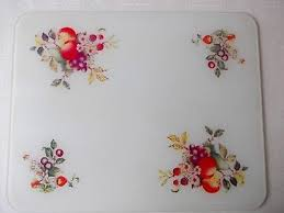 johnson brothers fresh fruits extra large glass worktop saver chopping board