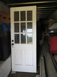 vintage solid wood 6 glass panel exterior door 31 5 8 w x 79 1 1 of 5