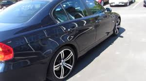 2010 BMW 3 SERIES RIDING ON 18 INCH BLACK & MACHINED M6 RIMS ...