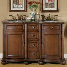 55 inch double sink bathroom vanity: quick view brown adela quot double bathroom vanity