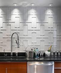 modern kitchen backsplash 2013. Geometric Backsplash Modern Kitchen 2013