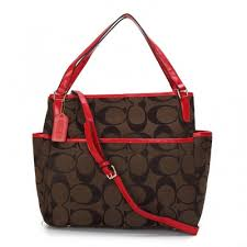 Coach Baby In Signature C Fabric Medium Brown Totes ANY