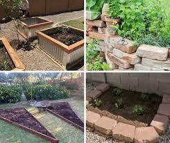 4 diy raised vegetable garden beds