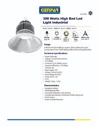 Led Light Heat Generation 300 Watts High Bed Led Light Industrial Genpar
