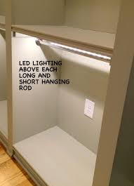 closet lighting solutions. great idea for closet lighting add led strip to the tops of your rods a modern look and light up clothes in dark spaces solutions