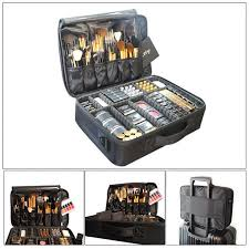 professional travel large capacity makeup storage bag cosmetic case suitcase new
