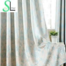slow soul blue purple gray curtain american past cotton jacquard embossed fl curtains for living room