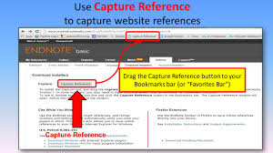 capturing websites endnote basic research guides at hawaii find a website that you want to save