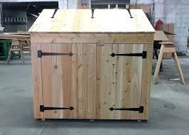 trash can storage ideas cool outdoor garbage cabinet bin