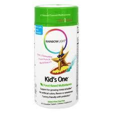 rainbow light kids one multistars multivitamin fruit punch 30 chewable tablets