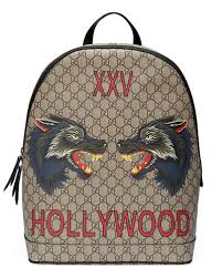 gucci bags backpack. xxv wolf-print gg supreme backpack quick look. gucci bags