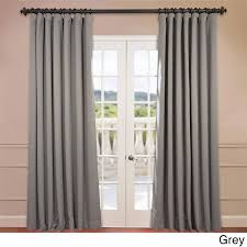 eff extra wide thermal blackout 96 inch curtain panel grey size 100