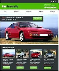 Free Dealership Website Templates Auto Dealer Template Used