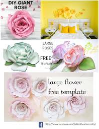 Diy Giant Paper Rose Flower Fields Of Heather Free Templates Tutorials For Making